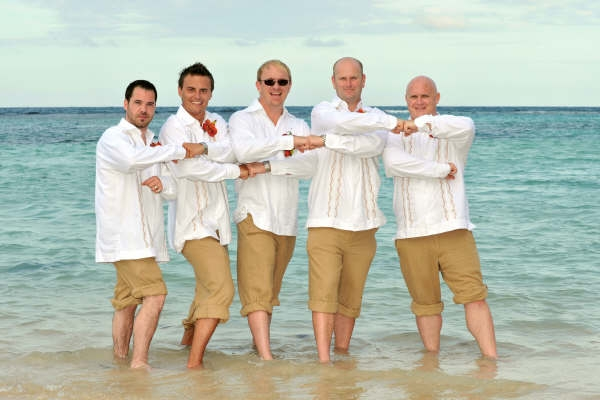 : male beach wedding attire