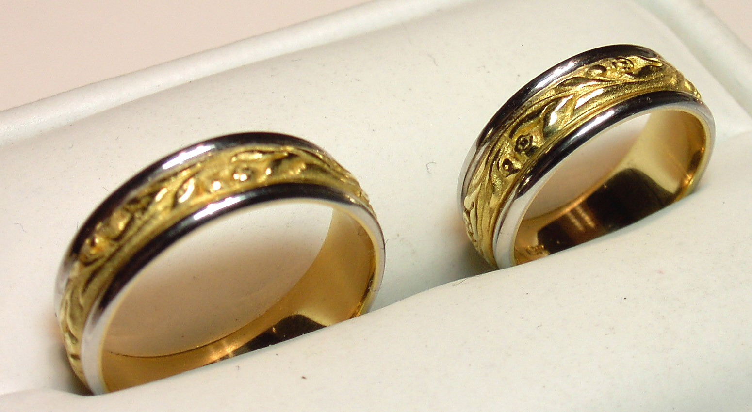 : matching wedding rings for bride and groom