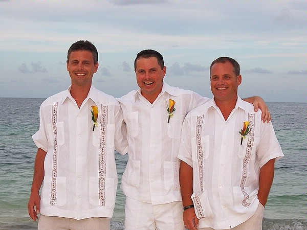 : men beach wedding attire