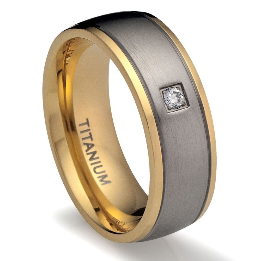 Gallery of The Mens Titanium Wedding Rings