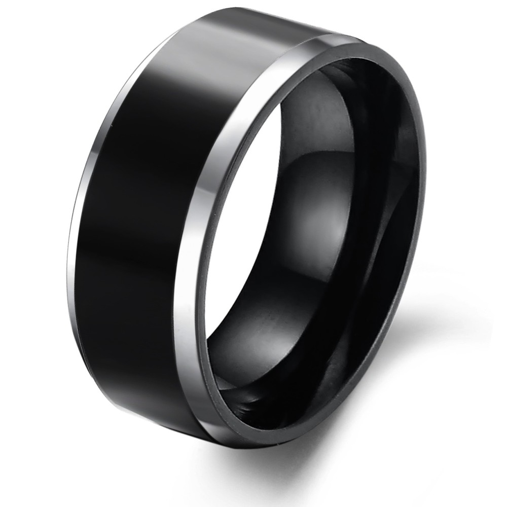 : mens black tungsten wedding bands
