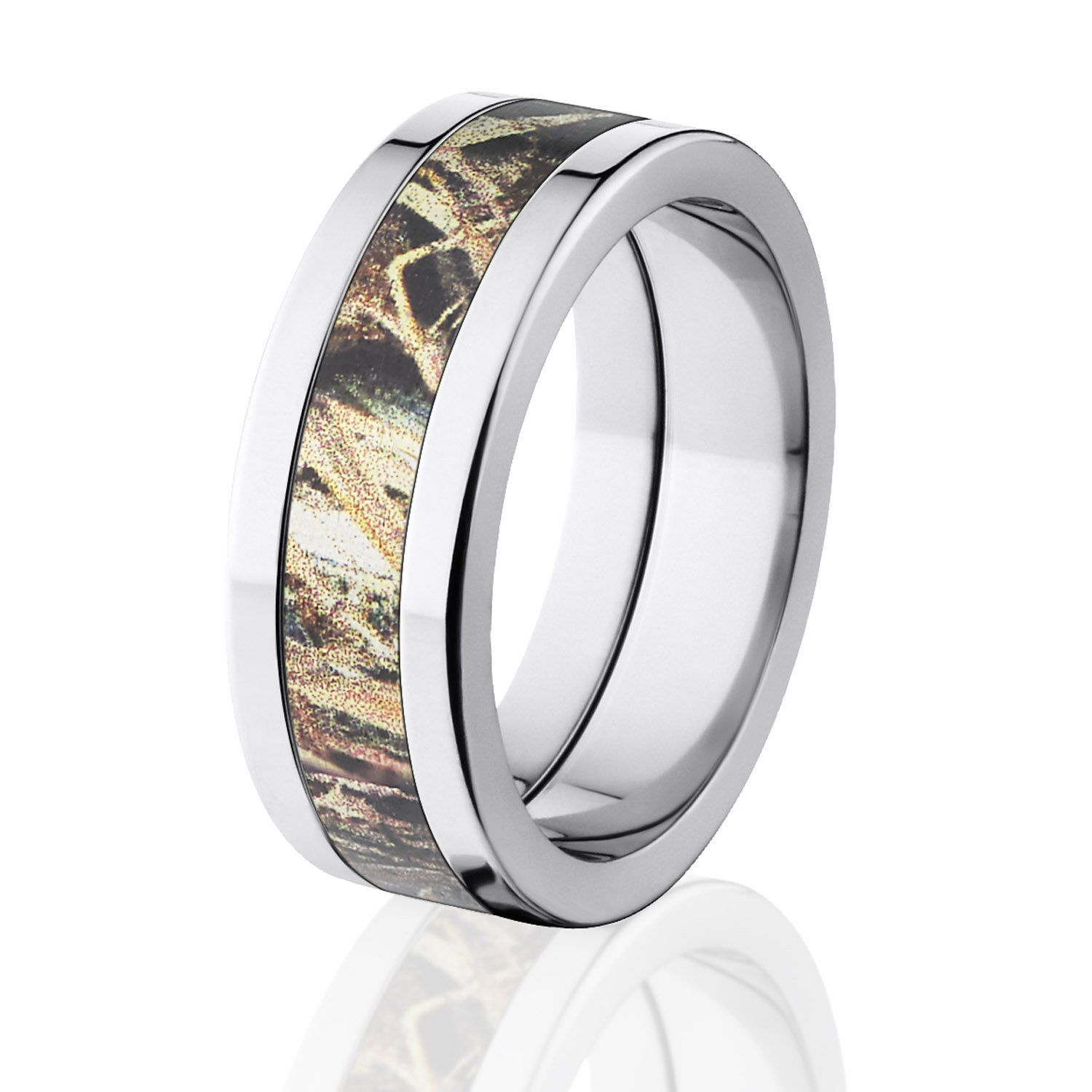 : mens camo wedding rings
