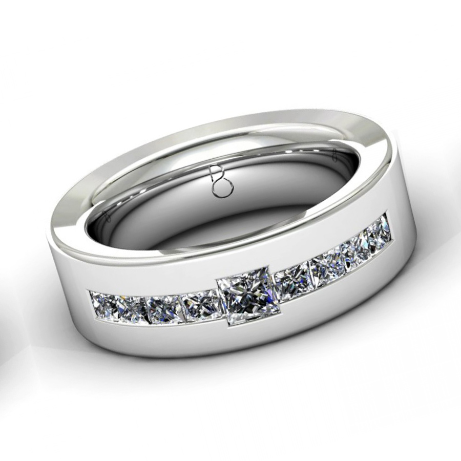 : mens diamond wedding band