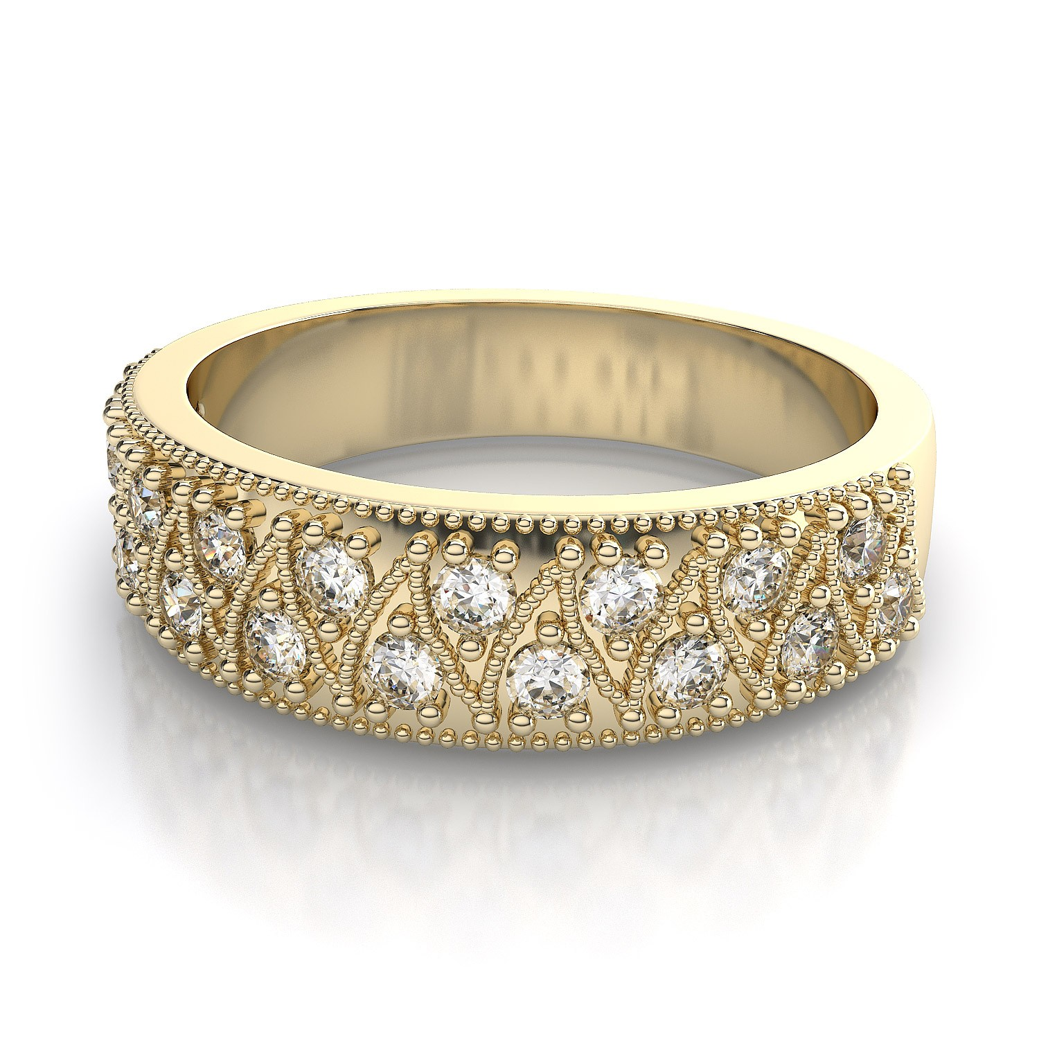 mens diamond wedding rings yellow gold