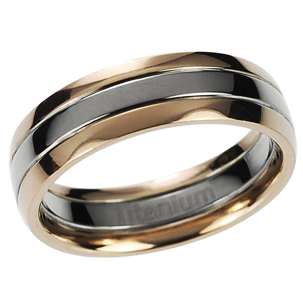 : mens titanium ring