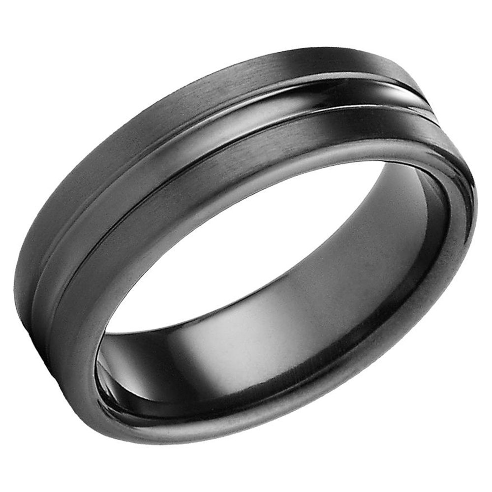 : mens titanium wedding ring