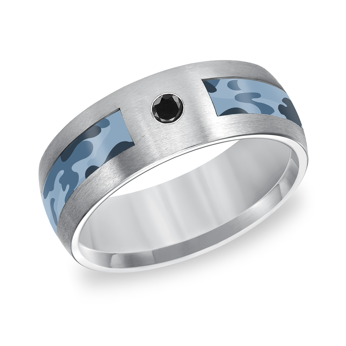 mens tungsten camo wedding bands