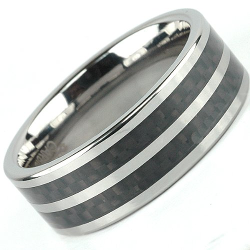 : mens tungsten wedding ring