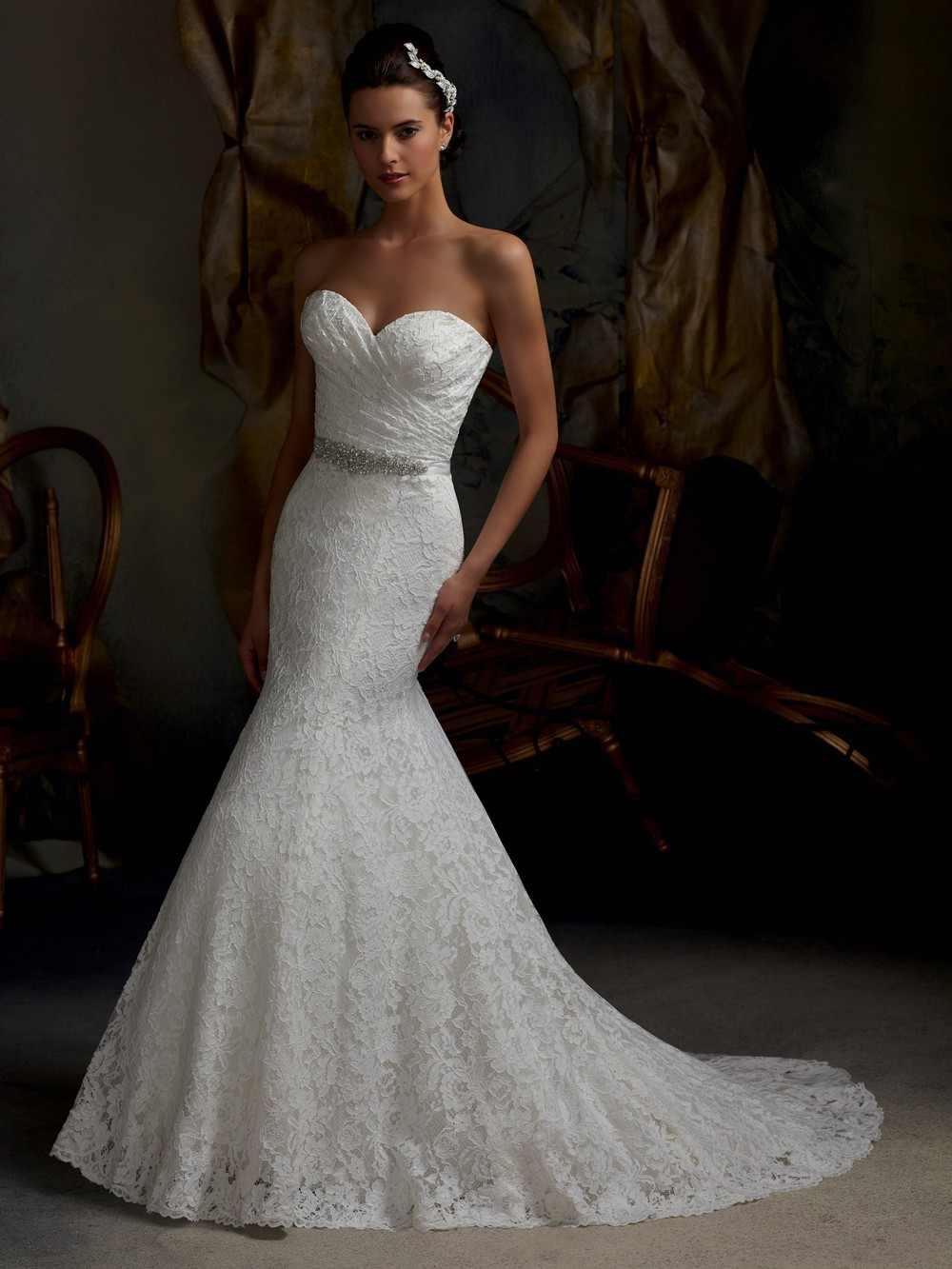 : mermaid wedding dresses with bling