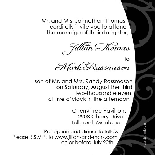 modern wording for wedding invitations