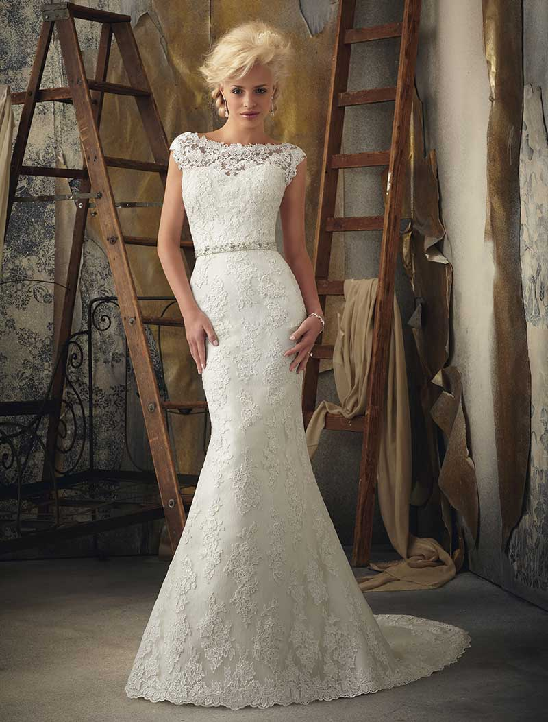 : mori lee wedding dress