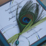 : peacock wedding invitations