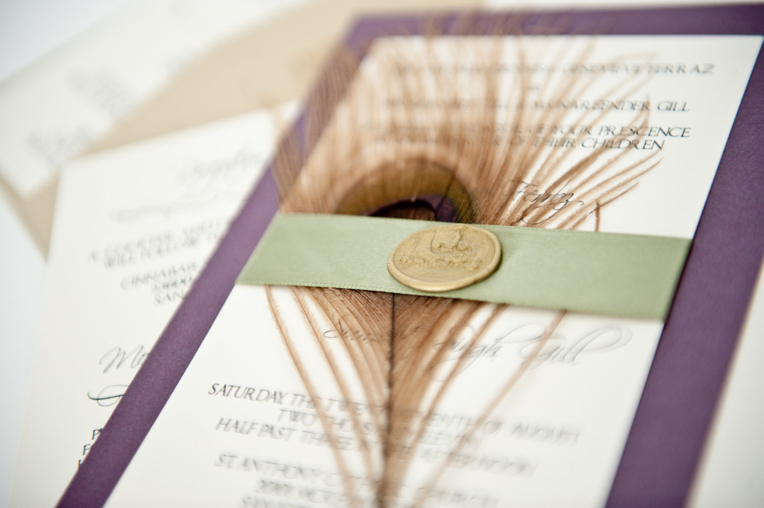 : peacock wedding invitations cheap