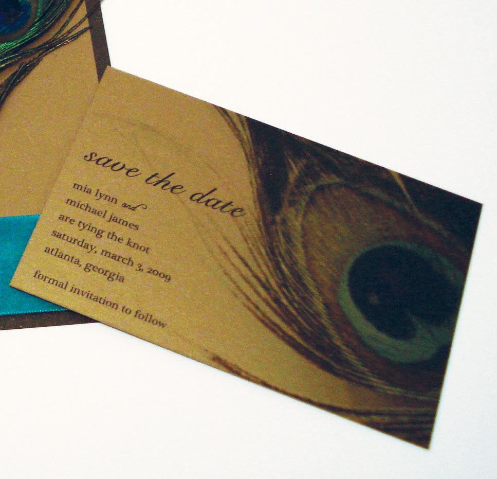 : peacock wedding programs