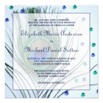 : peacock wedding theme invitations
