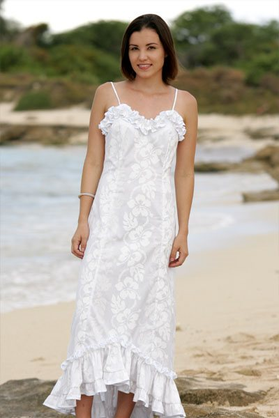 : plus size hawaiian wedding dresses
