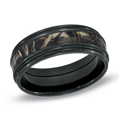 : realtree camo wedding rings