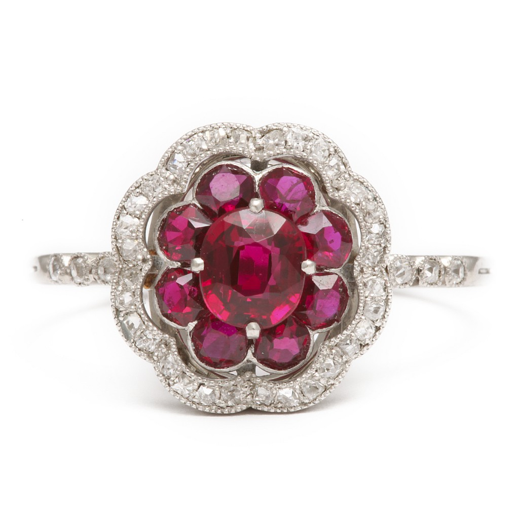 : red ruby wedding rings