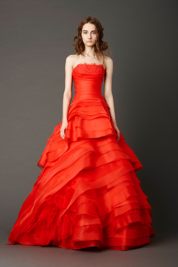 : red wedding dresses kleinfeld