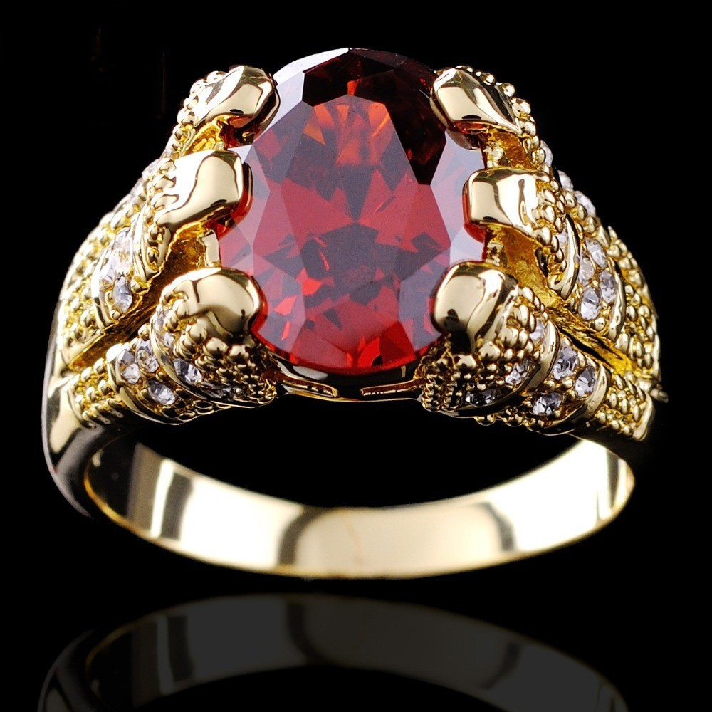: ruby wedding ring set