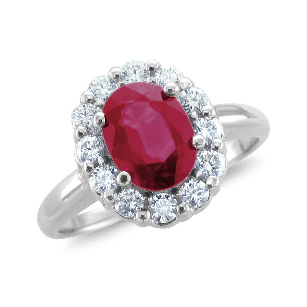 : ruby wedding ring sets