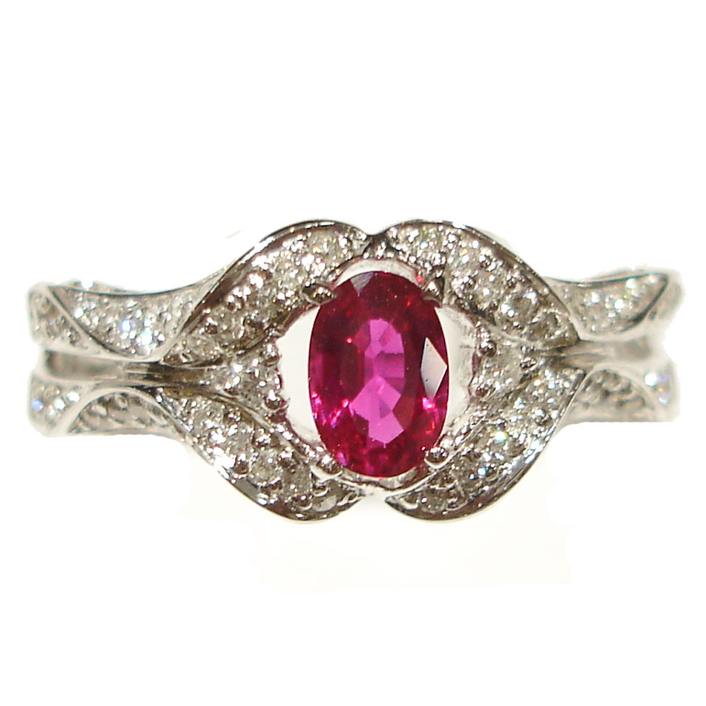 : ruby wedding rings sets