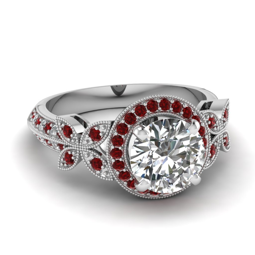 : ruby wedding rings white gold