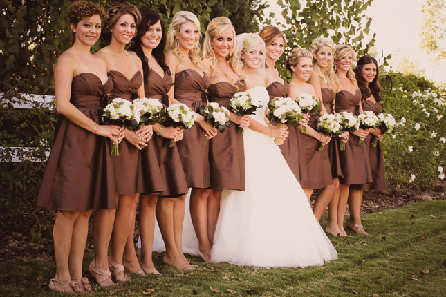 : rustic country wedding bridesmaid dresses