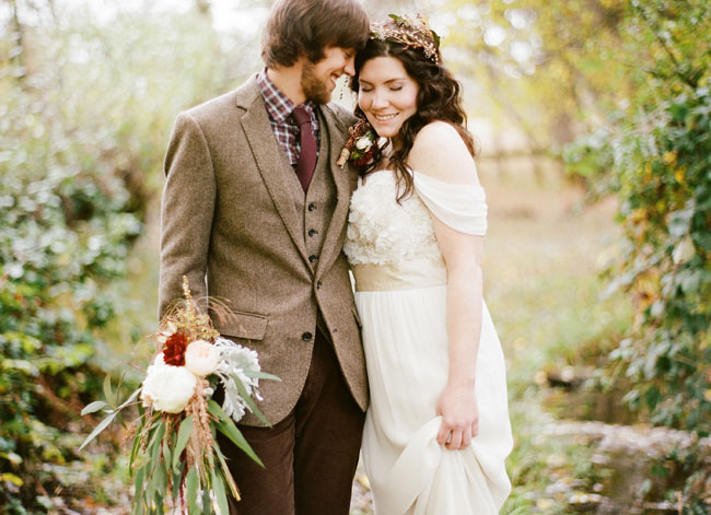 : rustic wedding attire