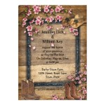 : rustic western wedding invitations