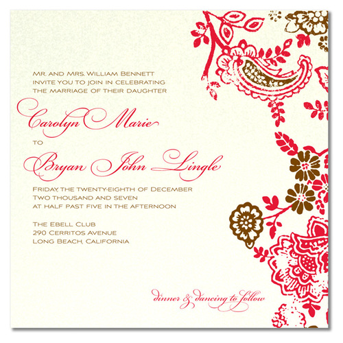 sample of wedding invitation wording