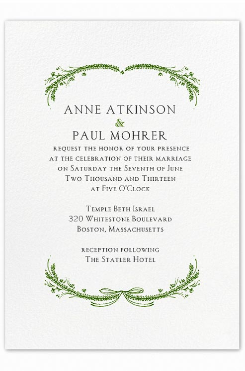 sample wedding invitations wording | Wedding Ideas and ...