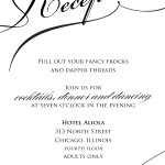 : sample wedding reception invitations