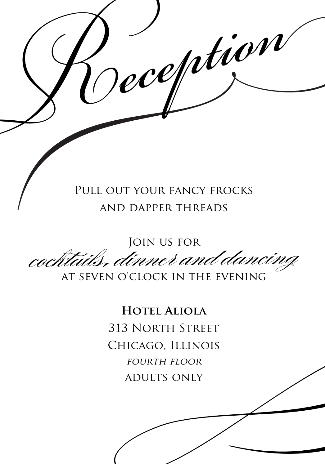 sample wedding reception invitations | Wedding Ideas and Wedding Planning Tips