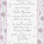 : sample wedding shower invitations