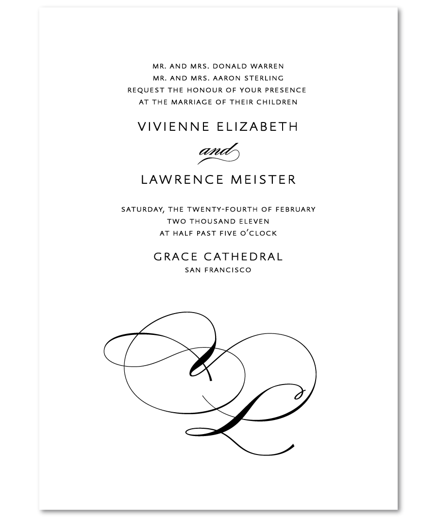 samples of wedding invitation wording