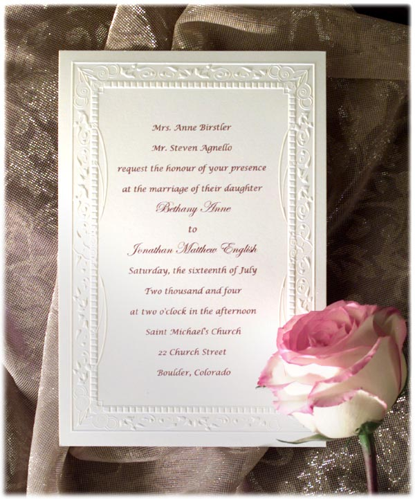 samples of wedding invitations wording