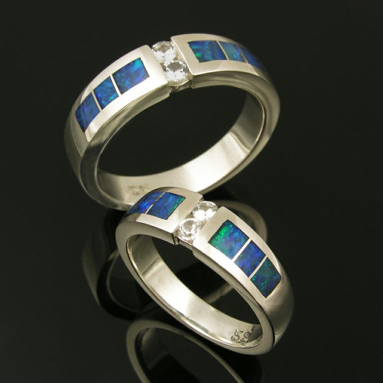 : silver wedding ring sets