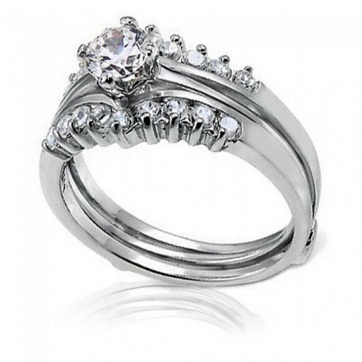 silver wedding rings for women