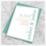 : simple elegant wedding invitation