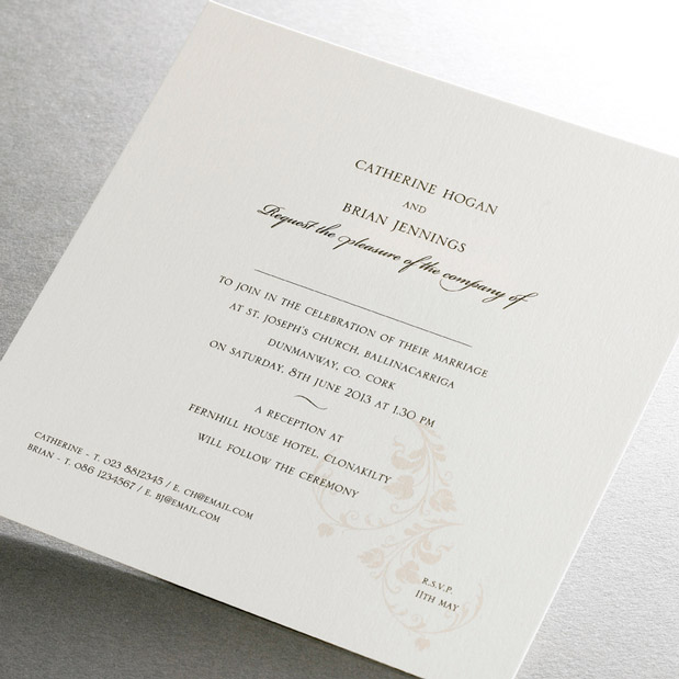 simple elegant wedding invitations