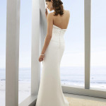 : simple halter top wedding dresses