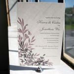 : smock letterpress wedding invitations