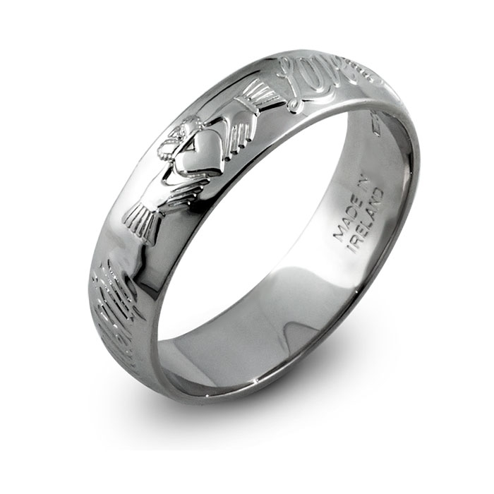 : sterling silver wedding band