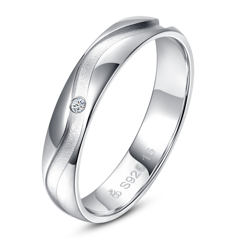 : sterling silver wedding ring