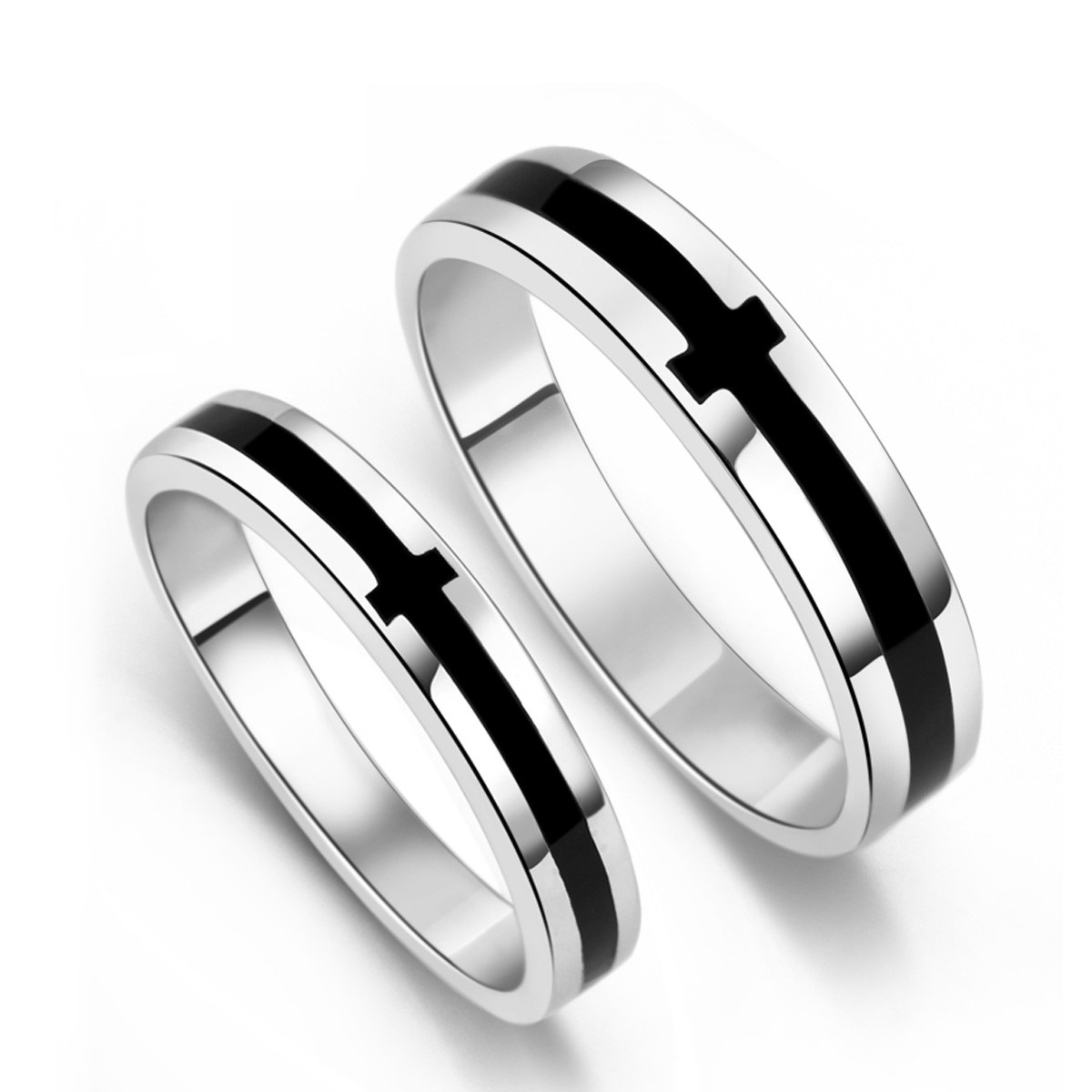 : titanium black mens wedding bands