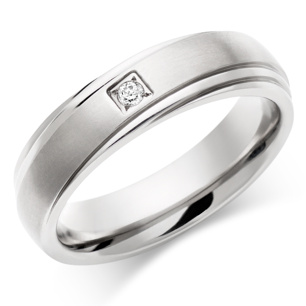 : titanium mens wedding band