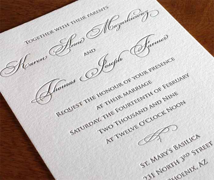 traditional wording for wedding invitations