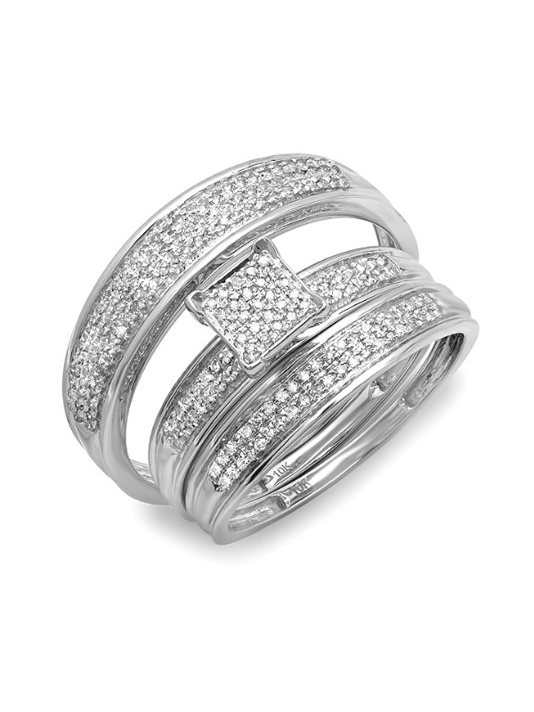 : trio sets wedding rings