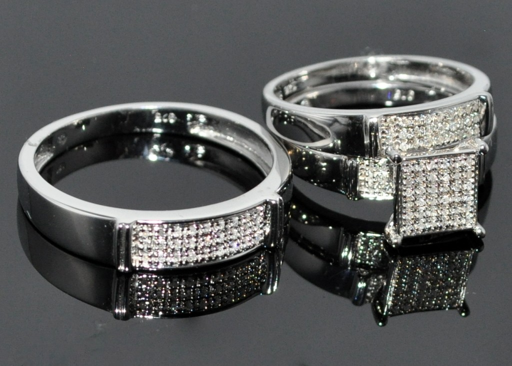 : trio wedding ring sets